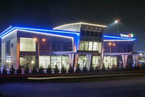 Airport Kiev (Zhulyany) terminal B, design and delivery of lighting equipment