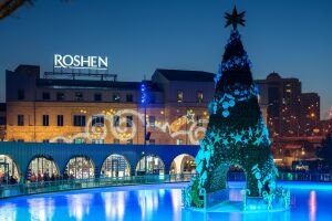 Roshen Winter Village lighting