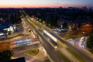 Supply of lamps for lighting the bridge and tram station at Vaclav Havel