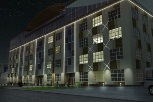 "Designing of the front light business center ""Protasov"""