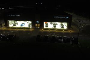 Interior and exterior lighting of Jaguar Land-Rover, Kyiv.