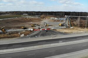 Volvo construction. Europoles and Schreder teceo.