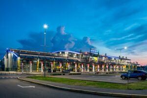 Complex lighting of Kyiv Airport (Zhulyany)