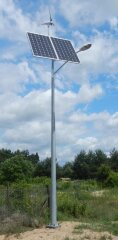 Hybrid street lighting kit for wind turbine and solar panel SHLP 6M-40/400/400-EKO
