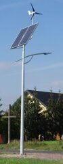 Hybrid street lighting kit for wind turbine and solar panel SHLP 8M-40/400/400